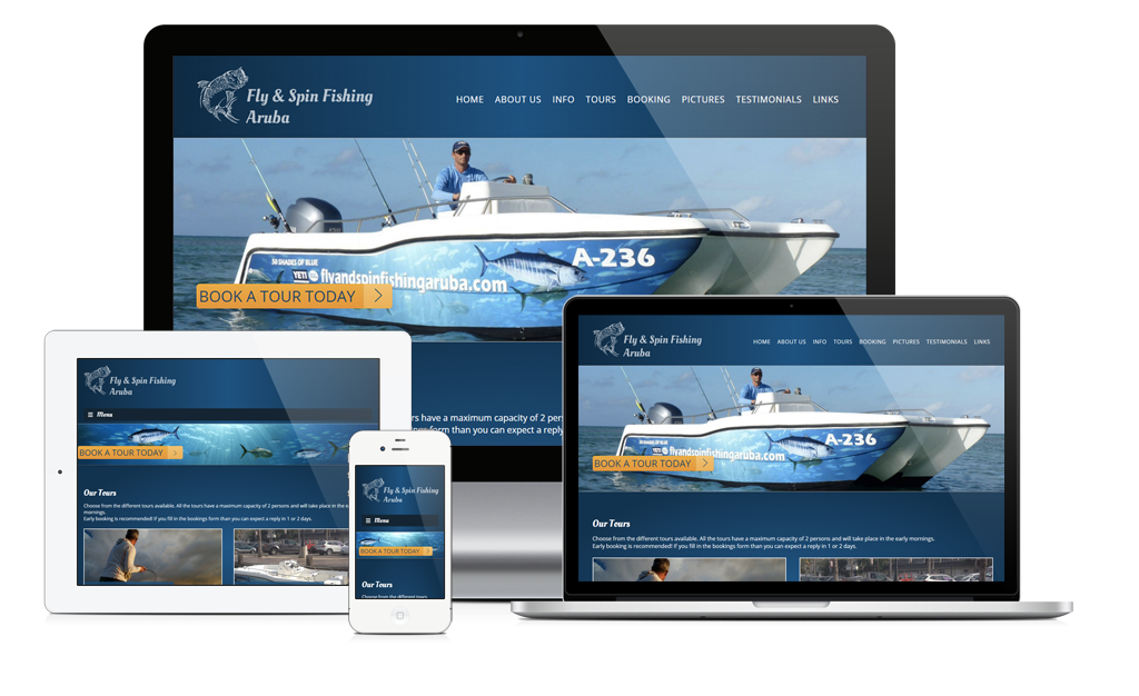New site launch: Fly & Spin Fishing Aruba