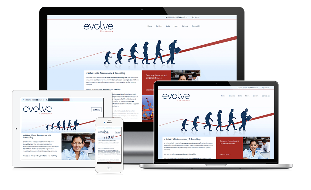 New site launch: Evolve Malta Accountancy & Consulting
