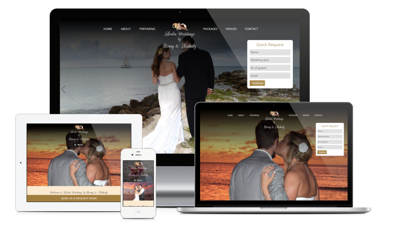 New Site Launch: Aruba Weddings by Bonny & Nathaly