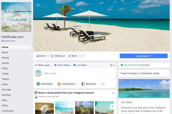VisitAruba-Facebook-page-branding-caribmedia-aruba-blog