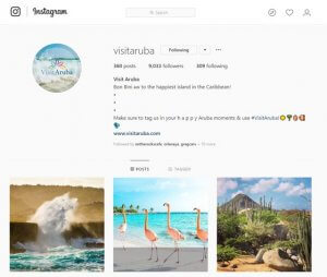 VisitAruba-Instagram-Business-Profile-branding-caribmedia-aruba-blog