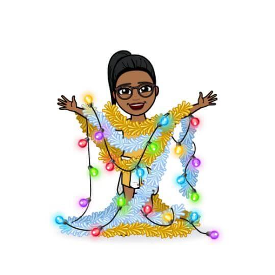 Happy holidays from the caribmedia aruba team member Airany Heyden