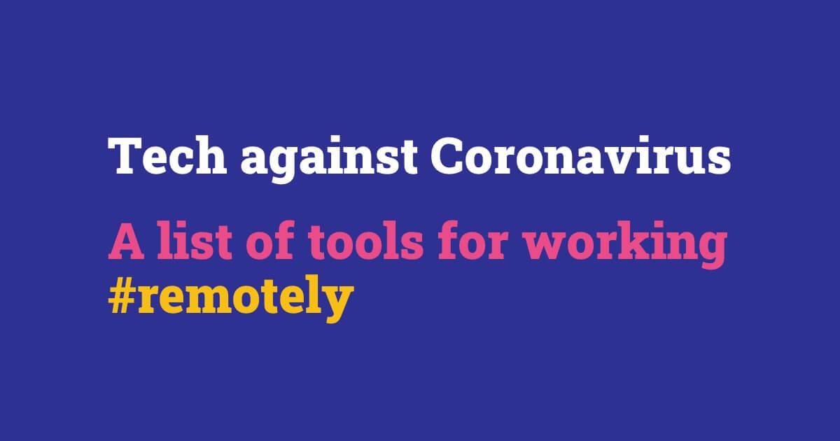 Tech against Coronavirus