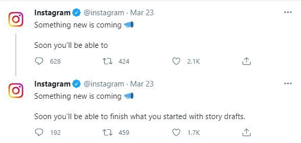 Story Drafts are coming to Instagram